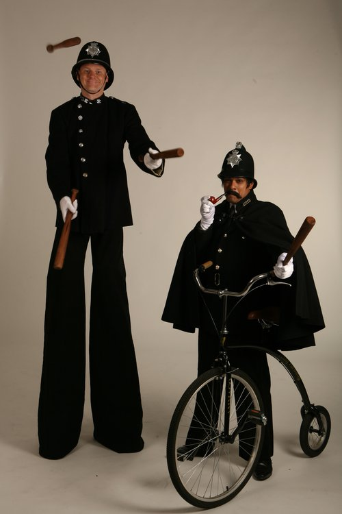 Victorian Policemen - duo stilt & bike