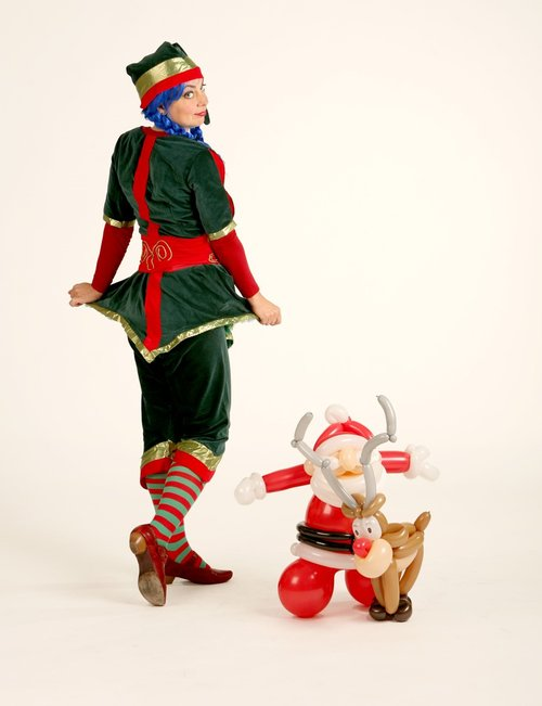 xmas balloon elf back shot