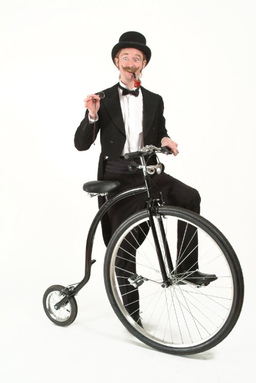 Victorian Gent on Penny Farthing