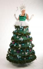 xmas tree fairy stiltwalker