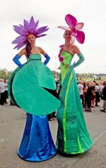 Duo Flower Stiltwalkers