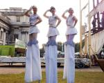 Sailor girl stiltwalkers