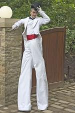 White Tux Stilt walker