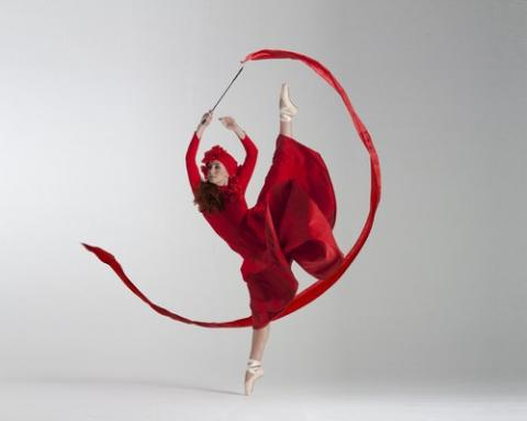 Red Costume Ribbon Dancer