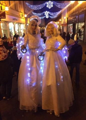 Stilt Angels illuminated